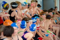 Jersey Kids Triathlon in aid of Bloodwise. Swimmers wait for the start Picture: ROB CURRIE