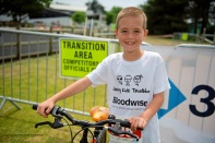 Jersey Kids Triathlon in aid of Bloodwise. Kai Ballantyne (8) who has so far raised £1,080 for Bloodwise Picture: ROB CURRIE